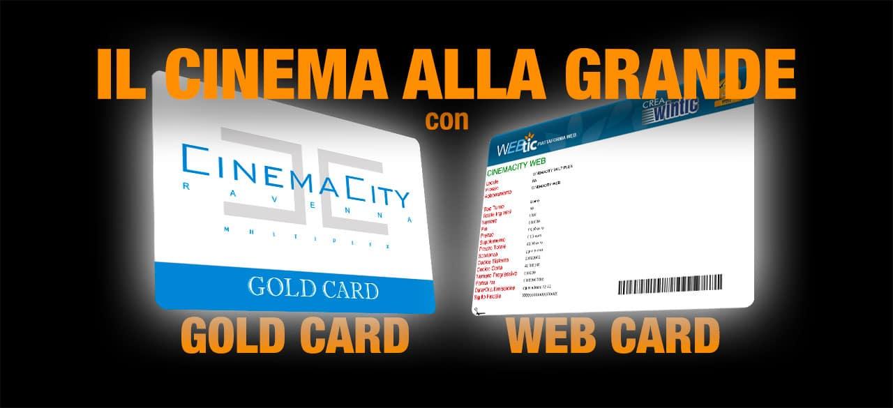 Gli abbonamenti Gold Card e Web Card - Divertimento infinito